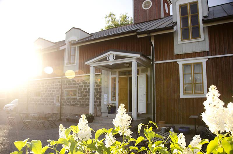 Hotel nestor facade under summer sunlight