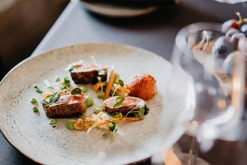 Meat dish at Hotel Nestor and Restaurant Back Pocket